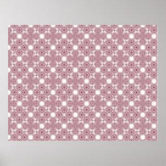 Large Craft Paper Pink Pattern Poster