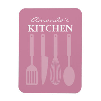 Large custom fridge magnet with kitchen utensils