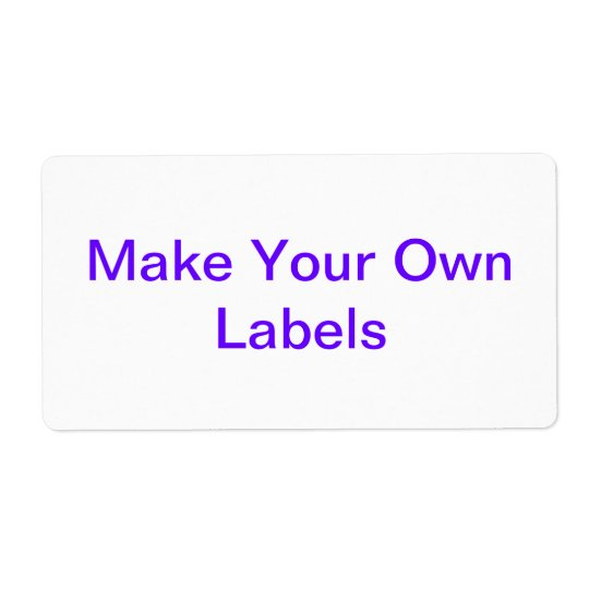 Large Customizable Labels
