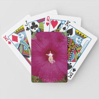 large dark red Hibiscus Bicycle Playing Cards