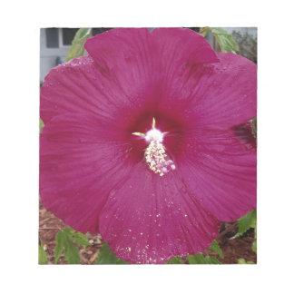 large dark red Hibiscus Notepad