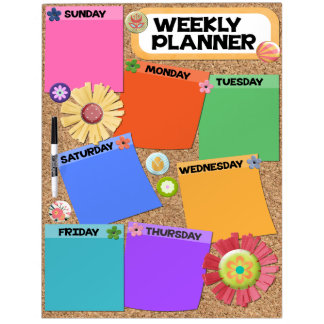 Large Dry Erase Board, Weekly Planner Dry Erase Board