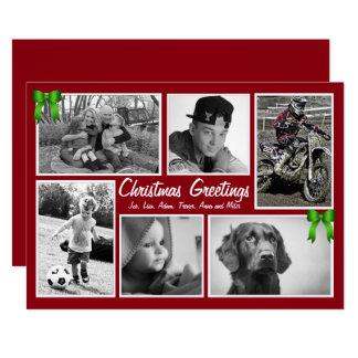 Large Family Multi-Photo Flat Christmas Cards