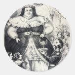 Large Fat Lady Round Sticker