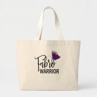 Large Fibro Warrior Purple Butterfly Tote