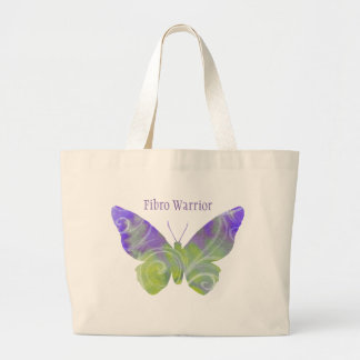Large Fibromyalgia Butterfly Tote Bag