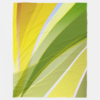 Large Fleece Blanket, modern, abstract, green