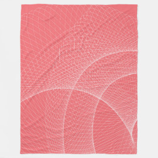 Large Fleece Blanket, modern, abstract, pink,white