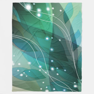 Large Fleece Blanket, modern, abstract, turquoise