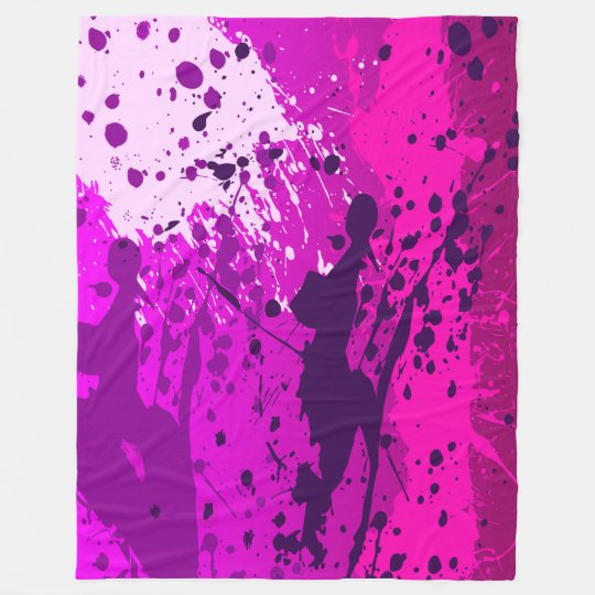 Large Fleece Blanket, modern, abstract, violet