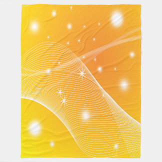 Large Fleece Blanket, modern, abstract, yellow