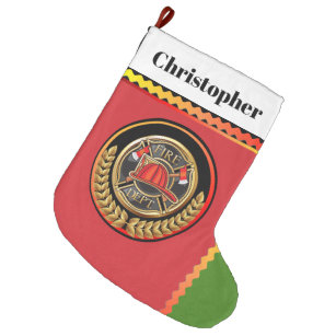 Firefighter Christmas Stocking.Firefighter Christmas Stockings Zazzle Ca