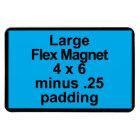 Large Flex Magnet Template Vertical Fit Black BG