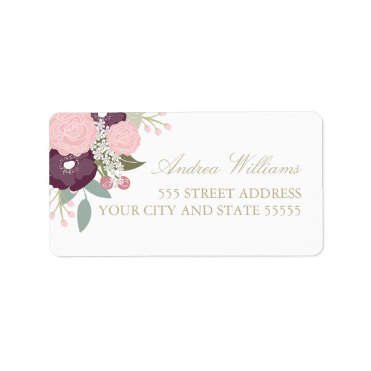 Large Floral Custom Return Address Labels