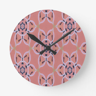Large Floral Print, Bold Graphic Round Clock