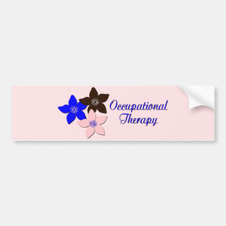 Large flower designs bumper sticker