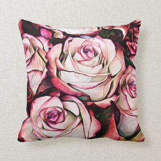 Large Flower Floral Pink Petal Blossoms Garden Throw Pillow