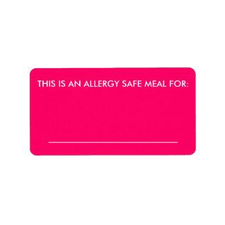 Large Food Identification Label