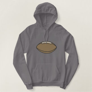 Large Football Embroidered Hoodie
