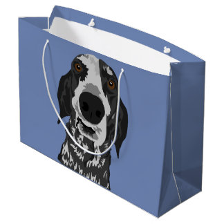 Large Funny Face Coonhound Gift Bag