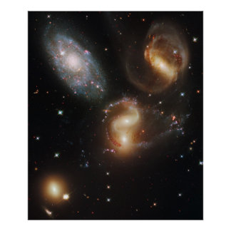 Large Galaxies Space Poster