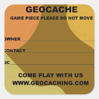 Large geocache lable square sticker