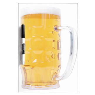 Large German Bierkrug Beer Mug Tankard Glass Pint Dry Erase Board