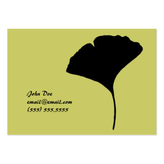 Large Ginko Leaf Calling Card Large Business Cards (Pack Of 100)