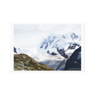 Large glacier in the Swiss alps Canvas Print
