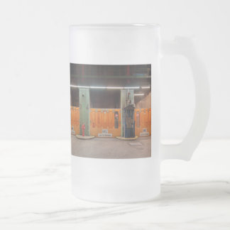 Large glass cup of old Elbe tunnels