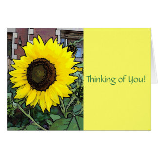 Large Gold Sunflower Greeting Card