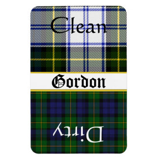 Large Gordon Tartan Plaid Dishwasher Magnet