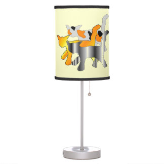 Large Graphic Cats Table Lamp