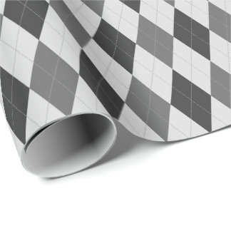 Large Gray Tones Argyle Wrapping Paper