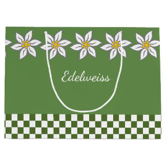 Large Green Edelweiss Gift Bag