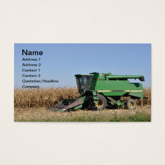 large green farming equipment business card