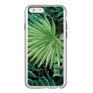 Large Green Fern Palm and Monstera Tropical Plants Incipio Feather® Shine iPhone 6 Case