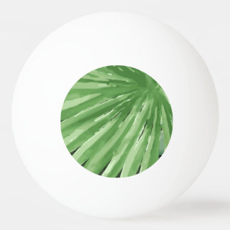 Large Green Fern Palm and Monstera Tropical Plants Ping Pong Ball