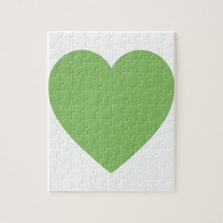 Large Green Heart Puzzle