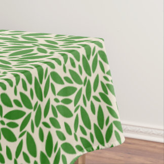 Large green leaves tablecloth