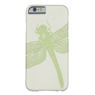 Large Green Stamped Dragonfly Design Barely There iPhone 6 Case