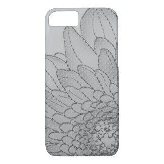 Large Grey Sunflower | Graphic Flower Design iPhone 8/7 Case