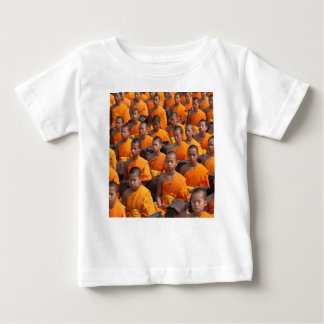 Large Group of Meditating Monks Baby T-Shirt