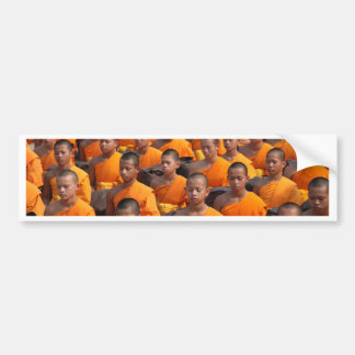 Large Group of Meditating Monks Bumper Sticker
