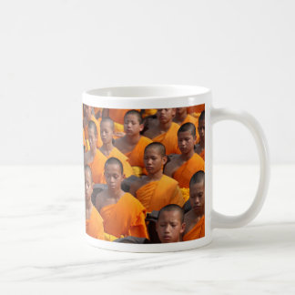 Large Group of Meditating Monks Coffee Mug