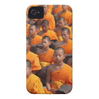 Large Group of Meditating Monks iPhone 4 Case