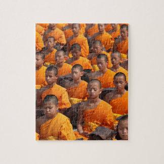 Large Group of Meditating Monks Jigsaw Puzzle