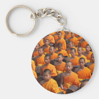 Large Group of Meditating Monks Keychain