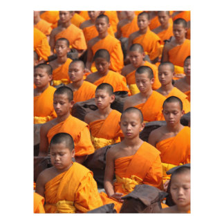 Large Group of Meditating Monks Letterhead