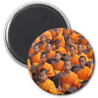 Large Group of Meditating Monks Magnet